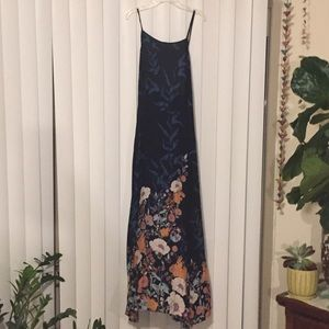 FREE PEOPLE intimately halter maxi dress in LARGE.
